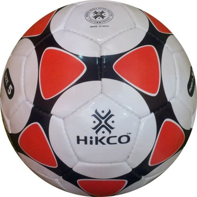 Hikco Red Sun Football - Size: 5, Diameter: 22 cm(Pack of 1, White, Red, Black)