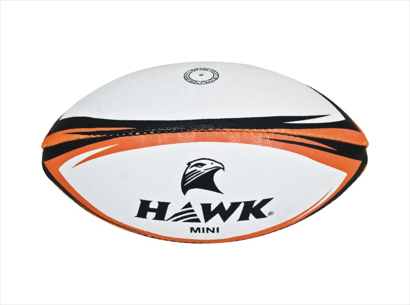 HAWK Kidi Rugby Ball -   Size: 1,  Diameter: 5 cm(Pack of 1, White)