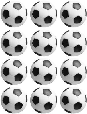 Play City Soccer Table Foosball -   Size: 36 mm,  Diameter: 3.6 cm(Pack of 12, Black, White)