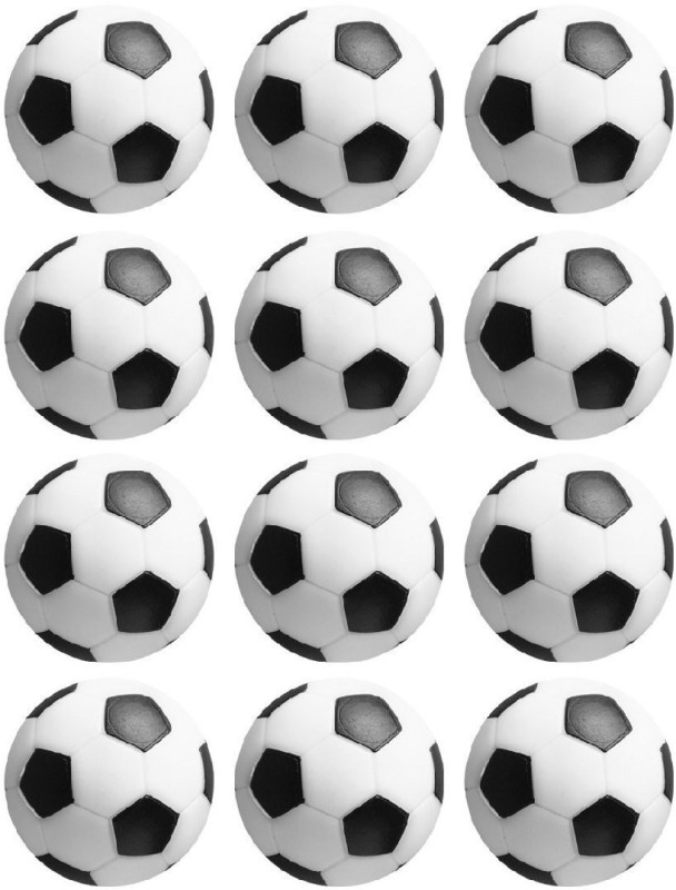 Play City Soccer Table Foosball -   Size: 36 mm,  Diameter: 3.6 cm(Pack of 12, Black, White)