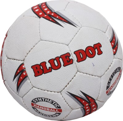 Blue Dot Men Handball -   Size: 3,  Diameter: 20 cm(Pack of 1, White)