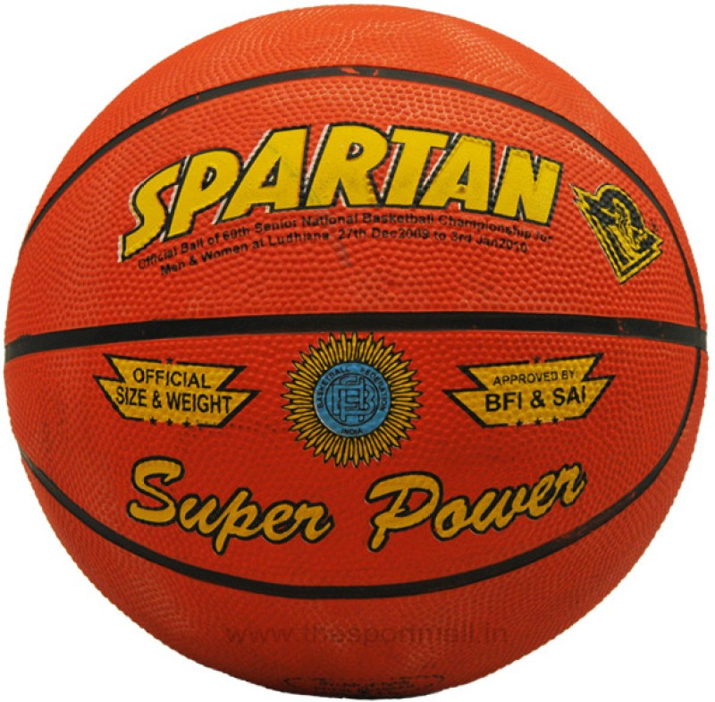 Spartan SuperPower Basketball -   Size: 7,  Diameter: 24.2 cm(Pack of 1, Red)