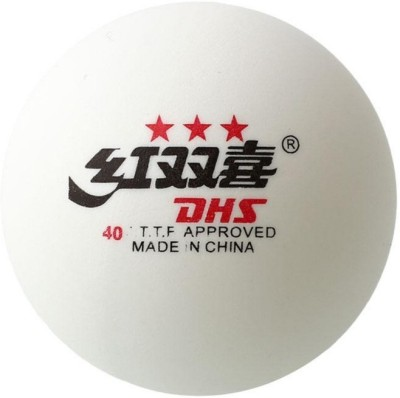 DHS CF40A Ping Pong Ball - Size: 40mm, Diameter: 4 cm(Pack of 6, White)