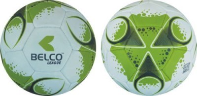 Belco LEAGUE 3 Football - Size: 5(Pack of 1, Green, White)