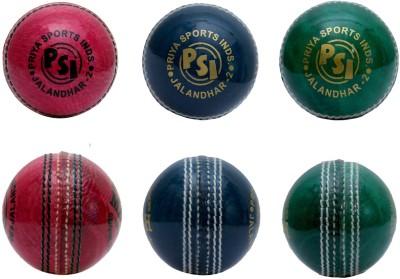Priya Sports Coloured Cricket Ball -   Size: 5,  Diameter: 2.5 cm
