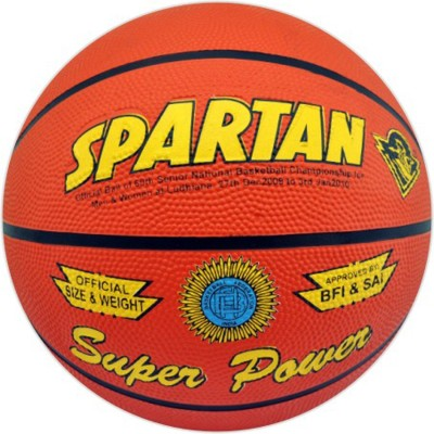 Spartan SUPER POWER Basketball - Size: 6, Diameter: 2.5 cm(Pack of 1, Multicolor)