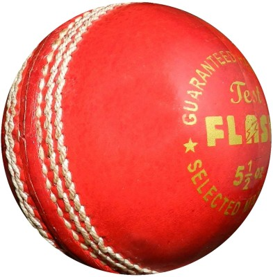 FLASH LEATHER TEST Cricket Ball -   Size: 5,  Diameter: 7.3 cm