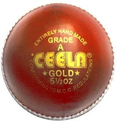 Ceela Gold Cricket Ball -   Size: Standard,  Diameter: 7 cm