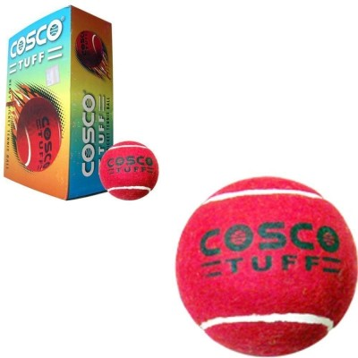 Cosco Tuff Cricket Ball -   Size: 5,  Diameter: 2.5 cm(Pack of 6, Red)