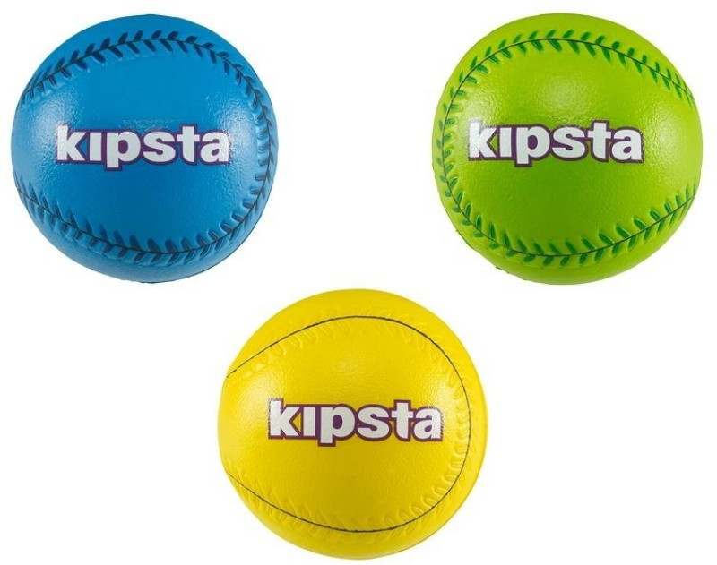 Kipsta  by Decathlon Big Hit Baseball -   Size: 5,  Diameter: 6.5 cm(Pack of 3, Multicolor)