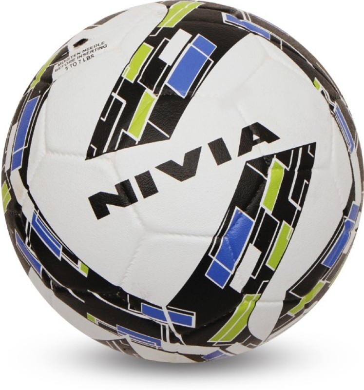 Nivia Storm Revolution Football - Size: 5(Pack of 1, White/Green)