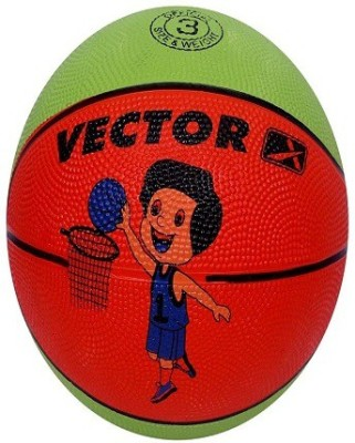 Vector X BB-TOON-GREEN-ORANGE Basketball - Size: 3, Diameter: 57 cm(Pack of 1, Green, Orange)