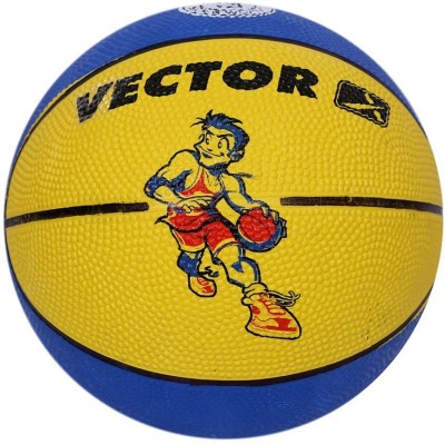 Vector X BB-TOON-BLUE-YELLOW Basketball - Size: 3, Diameter: 57 cm(Pack of 1, Blue, Yellow)