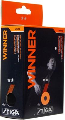 Stiga Winner 2 Star Ping Pong Ball -   Size: 6,  Diameter: 4 cm