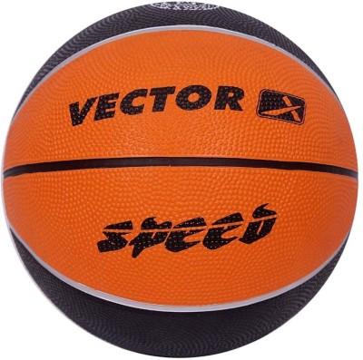 Vector X BB-SPEED-ORG-BLK-5 Basketball - Size: 5, Diameter: 57 cm(Pack of 1, Orange, Black)
