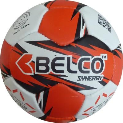 Belco SYNERGY 2 Football - Size: 5, Diameter: 22 cm(Pack of 1, Red, Black, White)