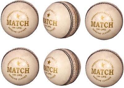 Priya Sports PCWHITE-6 Cricket Ball -   Size: 5,  Diameter: 2.24 cm