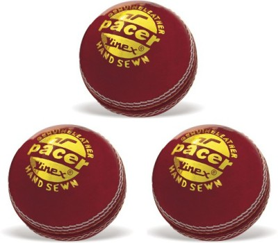 Vinex Cricket Ball - Pacer (Pack of 3 Pcs) Cricket Ball -   Size: 5,  Diameter: 23 cm