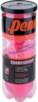 Head Penn Pink Championship XD Tennis Balls Tennis Ball - Size- 5, Diameter- 6.86 cm(Pack of 3, Pink)