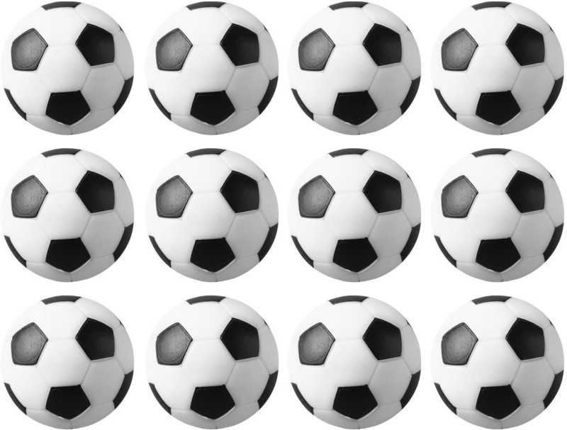 Play City Soccer, Foosball Table Balls Foosball -   Size: 32 mm,  Diameter: 3.2 cm(Pack of 12, Black, White)