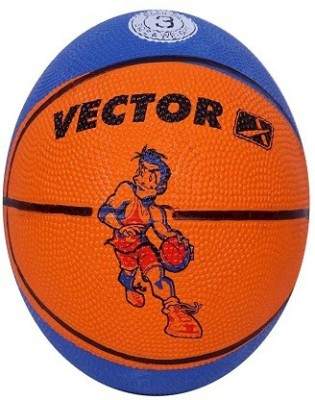 Vector X BB-TOON-BLUE-ORANGE Basketball - Size: 3, Diameter: 57 cm(Pack of 1, Blue, Orange)