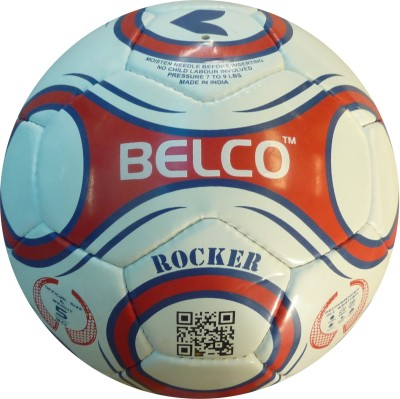 Belco Rocker 1 Football - Size: 5, Diameter: 22 cm(Pack of 1, Red, Blue, White)