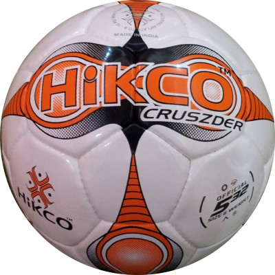 Hikco Orange Cruszder Football - Size: 5, Diameter: 22 cm(Pack of 1, Multicolor)
