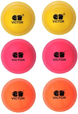 GB VICTOR Wind Pack of 6 Cricket Ball -   Size: 5,  Diameter: 2.5 cm
