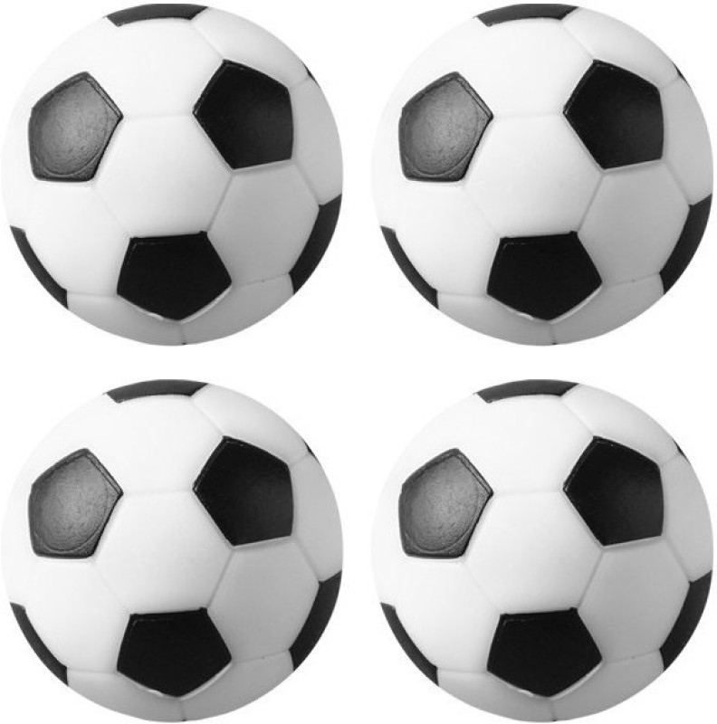Play City Soccer Table Balls Foosball -   Size: 32 mm,  Diameter: 3.2 cm(Pack of 4, Black, White)