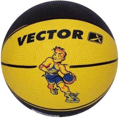 Vector X BB-TOON-YELLOW-BLACK Basketball - Size: 3, Diameter: 57 cm(Pack of 1, Yellow, Black)