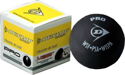 Dunlop Pro 2 Dot Squash Ball(Pack of 1, Yellow, Black)