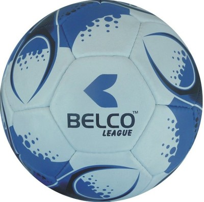 Belco LEAGUE 1 Football - Size: 5, Diameter: 22 cm(Pack of 1, Blue, White, Black)