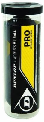 Dunlop Sports Pro XX Squash 3 Ball Tube Squash Ball - Size: 5, Diameter: 6.86 cm(Pack of 3, Black)