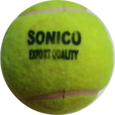 sonico yellow tennis Cricket Ball -   Size: 5,  Diameter: 10 cm