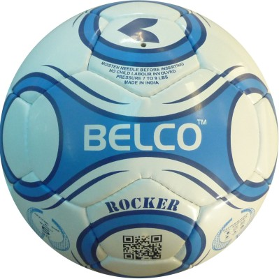 Belco Rocker 3 Football - Size: 5, Diameter: 22 cm(Pack of 1, Black, White, Blue)