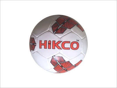 Hikco Striker Red Football Football - Size: 5, Diameter: 22 cm(Pack of 1, White, Red, Black)