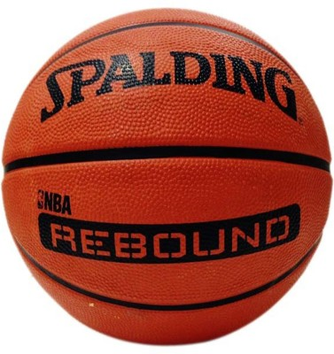 Spalding NBA Rebound Basketball - Size: 7, Diameter: 24.1 cm(Pack of 1, Orange, Black)
