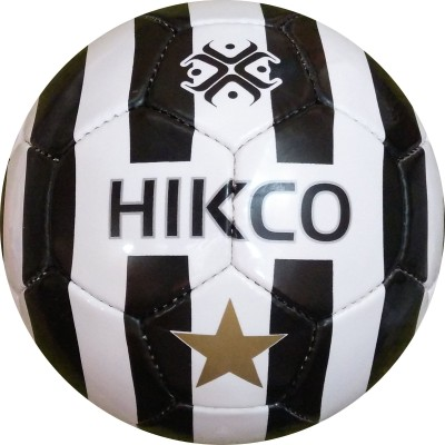 Hikco Star Football - Size: 5, Diameter: 22 cm(Pack of 1, Black, White)