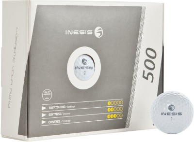 Inesis 500 White Golf Ball -   Size: Standard,  Diameter: 4.27 cm