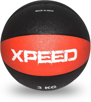 Xpeed Rubber Moulded Medicine Ball - Size- 4, Diameter- 4 cm(Pack of 1, Multicolor)