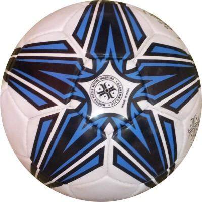 Hikco Shooting Star Football - Size: 5, Diameter: 22 cm(Pack of 1, White, Blue, Black)