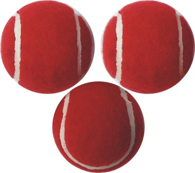 J&JC Thar Tennis Ball -   Size: 5,  Diameter: 6.5 cm(Pack of 3, Red)