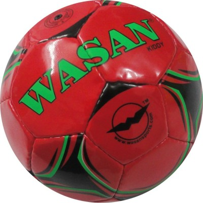 Wasan Kiddy Football - Size: 3, Diameter: 60 cm(Pack of 1, Red)