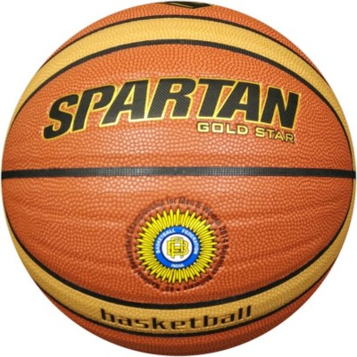 Spartan GOLSDSTAR-MICRO FIBRE PU Basketball - Size: 6, Diameter: 2.5 cm(Pack of 1, Multicolor)
