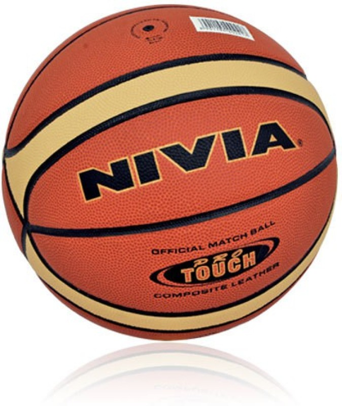 Nivia Pro Touch Basketball -   Size: 7,  Diameter: 2.5 cm(Pack of 1, Orange)
