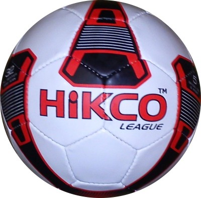 Hikco League Red Football - Size: 5, Diameter: 25 cm(Pack of 1, Red)