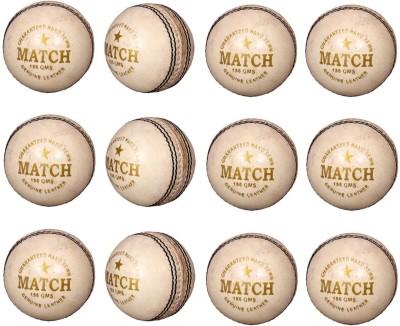 Priya Sports PCWHITE-12 Cricket Ball -   Size: 5,  Diameter: 2.24 cm
