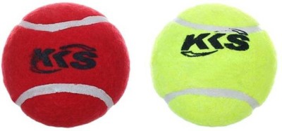 KKS Cricket Ball -   Size: 3,  Diameter: 3 cm(Pack of 2, Green, Red)