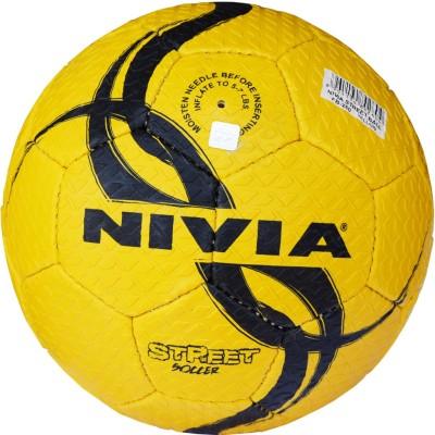 Nivia Street Yellow/Black Football -   Size: 5,  Diameter: 2.5 cm