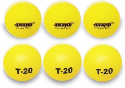 Jaspo T-20 Cricket Ball Cricket Ball - Size: 5, Diameter: 7 cm(Pack of 6, Yellow)